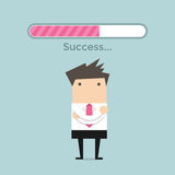 Homem de negócios e barra de carga do sucesso Imagens de Stock Royalty Free