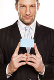 Homem de negócios e cartão de crédito Fotografia de Stock Royalty Free