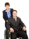 Homem de negócios e colega incapacitados Fotos de Stock Royalty Free
