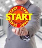 Homem de negócios e começo 3d Imagens de Stock Royalty Free