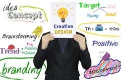 Homem de negócios e conceito de projeto criativo Foto de Stock