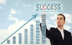 Homem de negócios e conceito do sucesso de negócio Fotos de Stock Royalty Free