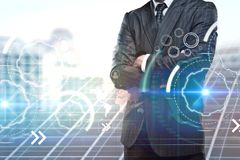 Homem de negócios e Cyberspace imagens de stock