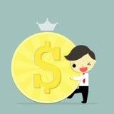 Homem de negócios e dinheiro Fotografia de Stock