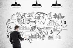 Homem de negócios e esboço startup preto Imagens de Stock Royalty Free