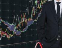 Homem de negócios e escala de cores Imagem de Stock