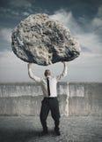 Homem de negócios e esforço Imagem de Stock Royalty Free