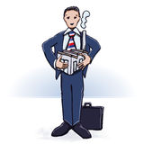 Homem de negócios e fábrica Fotografia de Stock