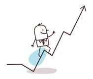 Homem de negócios e formação ilustração stock