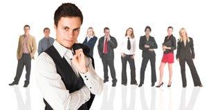 Homem de negócios e grupo formais fotos de stock