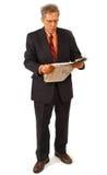 Homem de negócios e jornal Foto de Stock Royalty Free