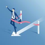 Homem de negócios e meta ilustração do vetor