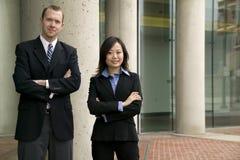 Homem de negócios e mulher fotos de stock
