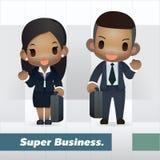 Homem de negócios e mulher americanos Imagem de Stock