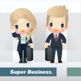 Homem de negócios e mulher americanos Imagem de Stock Royalty Free