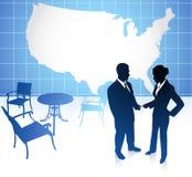 Homem de negócios e mulher de negócios em Estados Unidos Fotografia de Stock Royalty Free