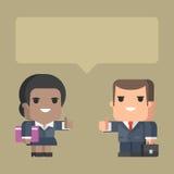 Homem de negócios e mulher de negócios que mantêm o polegar Fotografia de Stock Royalty Free