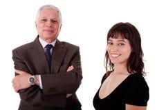 Homem de negócios e mulher felizes, Imagens de Stock