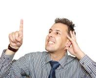 Homem de negócios e objeto imaginado Imagem de Stock Royalty Free