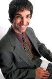 Homem de negócios e portátil foto de stock royalty free