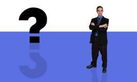 Homem de negócios e question-10 Fotografia de Stock Royalty Free