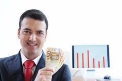 Homem de negócios e sorriso Fotos de Stock Royalty Free
