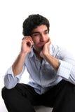 Homem de negócios e telemóvel fotos de stock royalty free