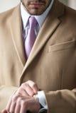 Homem de negócios elegante muito sério imagens de stock royalty free