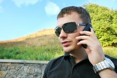 Homem de negócios em férias Fotos de Stock Royalty Free