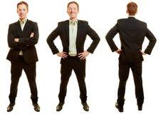 Homem de negócios em poses diferentes Imagens de Stock