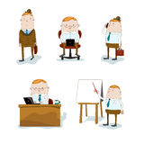 Homem de negócios em situações diferentes ilustração do vetor