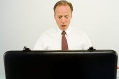 Homem de negócios em um choque fotos de stock