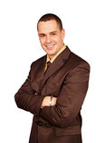 Homem de negócios em um terno Imagem de Stock Royalty Free