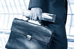 homem de negócios em uma pressa Fotografia de Stock