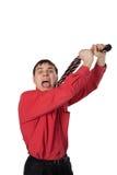 Homem de negócios emocional Fotos de Stock