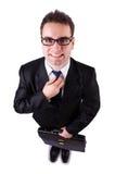 Homem de negócios engraçado Fotografia de Stock Royalty Free