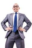 Homem de negócios engraçado do lerdo Fotos de Stock