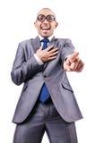 Homem de negócios engraçado do lerdo Fotografia de Stock