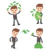 Homem de negócios engraçado dos desenhos animados Foto de Stock Royalty Free