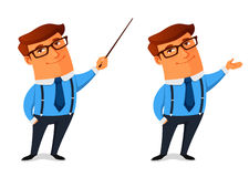 Homem de negócios engraçado dos desenhos animados Foto de Stock