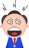Homem de negócios engraçado Shouting Fotografia de Stock Royalty Free