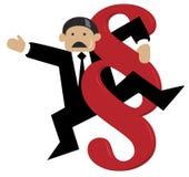 Homem de negócios envolvido no sinal do parágrafo ilustração do vetor