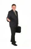 Homem de negócios ereto - boa vinda Fotografia de Stock Royalty Free