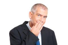 Homem de negócios espantado imagens de stock royalty free