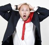 Homem de negócios espantado Imagem de Stock