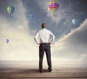 Homem de negócios esperançoso Imagens de Stock Royalty Free