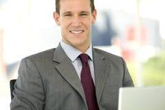 Homem de negócios esperto Fotografia de Stock