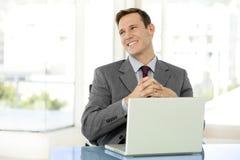 Homem de negócios esperto Imagens de Stock Royalty Free