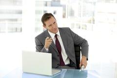 Homem de negócios esperto Fotos de Stock Royalty Free