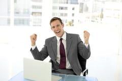 Homem de negócios esperto Imagem de Stock Royalty Free